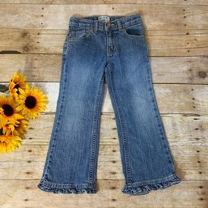 Girls ruffle flare jeans by Children's Place 5t